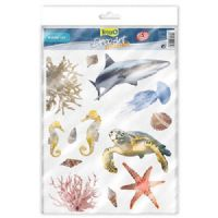Tetra Aquarium Sticker Set Marine Fish Life Bamboo Feng Shui Tank Decoration